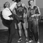 As Kentucky gets ready for its Final Four matchup against Connecticut on Saturday, SI takes a look back at classic photos of the Wildcats.   A second-straight NCAA title was enough to make Adolph Rupp break out his victory dance after the Wildcats beat Oklahoma A & M 46-36 in the championship game. Groza (No. 15) was Kentucky's leading scorer, averaging more than 20 points per game during the year, and Barnstable added six points per game.