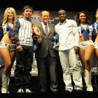 """""""Manny Pacquiao is the lone star of boxing,"""" Top Rank founder and CEO Bob Arum (center) said. """"There isn't a more appropriate place in the world for him to fight."""""""