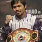 With November's dramatic 12th-round stoppage of Miguel Cotto, Pacquiao captured the WBO welterweight title and became the first fighter to collect world championships in seven different weight classes, between 112 to 147 pounds.