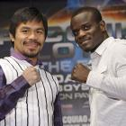 Manny Pacquiao (left) will defend the WBO welterweight championship against Josh Clottey on Saturday, March 13 (9 p.m., HBO PPV) at Cowboys Stadium in Arlington, Texas.