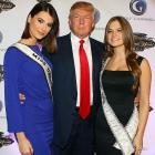 The man's name is on every building on the planet and Golf Channel's new celebrity reality series <i>Donald Trump's Fabulous World of Golf</i>. His hands are on Miss Universe 2009, Stefania Fernandez, and Miss Teen USA, Stormi Bree Henley, as evidenced by this tintype taken at the show's screening at (where else?) Trump Towers in New York City (soon be renamed Trumpville).