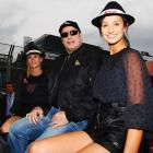 Fresh from taking Pelham, everyone's favorite former sweathog took in the Australian Formula One Grand Prix in Melbourne on March 28. Have to say his companions could make any fella's motor run...