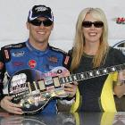 "After winning the Nashville 300 Nationwide Race in, you guessed it, Nashville on April 3, the stock car jockey and his spouse reportedly announced the release of their first classic country duet, ""She Got The Gold Mine (I Got The Shaft)."""