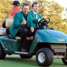 Lefty demonstrates the technique that earned him frequent rides to, around, and from Augusta National.