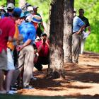 Mr. Woods' erratic play at Augusta had him barking at trees, much to the apparent alarm of spectators...