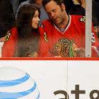 The Tinsletown icon and his spouse spent time in the sin bin for holding during the Blackhawks' playoff game vs. the Nashville Predators at Chicago's United Center on April 18.