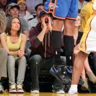 In this week's federally mandated photograph of a celebrity gawker at an NBA game, we proudly present thespian Levi blowing a little sunshine up the skirt of an Oklahoma City Thunder player at L.A.'s Staples Center on April 18.