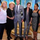 Every girl's crazy about a sharp-dressed man, especially one with a walkin' stick, as Mr. Beckham demonstrated during his televised appearance on  The View .