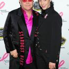 Two guys who know a thing or two about fashion showed up at the Breast Cancer Research Foundation's Hot Pink Party at the Waldorf-Astoria in New York City on April 27. Rumors that they were starting a new musical act called Elton Johnny proved unfounded.