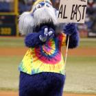 """A """"tipsy"""" Red Sox fan has been arrested after allegedly choking the Tampa Bay Rays mascot during Tuesday's Red Sox-Rays game in St. Petersburg, according to Boston.com. The Rays employee who portrays """"Raymond"""" in costume, did not press charges for battery. Police charged the fan with disorderly intoxication in a public place, according to the report. Here are the rest of Major League Baseball's official mascots."""