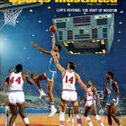 The gemstone of Lew Alcindor's three seasons, during which the Bruins went 88-2. At the Final Four they avenged their sole loss, to Houston, with a 40-point blowout.