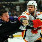 According to a recent poll of 272 NHL players conducted by Sports Illustrated magazine, the 6-4, 235-pound right winger received four votes (1.5 percent), good enough to rate among the league's 10 toughest fighters. According to hockeyfights.com, McGrattan is 10-2-2 this season, with his two defeats coming at the hands of heavyweights Colton Orr and Derek Boogaard.