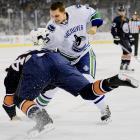 Now playing in his first full NHL campaign -- the feisty 5-11, 184-pound center saw action in a total of 41 games for Vancouver from 2005-06 through 2008-09 -- Rypien boasts an impressive 11-3-1 mark this season and was rewarded with six votes (2.2 percent) from his black and blue peers.