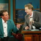 """Mickelson appears on """"The Late Late Show With Craig Kilborn"""" after winning the 2004 Masters."""