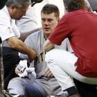 ''I remember throwing the pitch, I remember asking if it was a glancing blow, and being told that it hit me flush. The guys were telling me, when I was kicking my feet, I was trying to defer the pain from my body.''     Pittsburgh Pirates pitcher Chris Jakubauskas after getting hit in the head with a line drive.