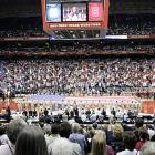 Fans flocked to the Alamodome to see the nation's two finest basketball programs go after it for the national title.