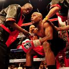 Mosley tried his best, but couldn't match the speed of the 33-year-old Mayweather, who grew more comfortable with each passing round.
