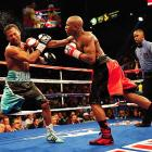 Mayweather made Mosley look every bit his 38 years as he landed sharp punches to his head, dominating a fighter who had vowed to turn the bout into the fight of the decade.