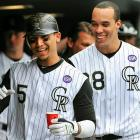 The Rockies benefited from two breakout years. Gonzalez, 25, flirted with a Triple Crown run in his first full big league season; he led the NL in batting (.336), ranked second in RBIs (117) and finished fourth in home runs (34). Not surprisingly, Gonzalez was especially effective at Coors Field, where he hit .380 with a .737 slugging percentage and 1.162 OPS. Meanwhile, Jimenez, 26, had a remarkable first half. Before the All-Star break, Jimenez threw a no-hitter, went 15-1 with a 2.20 ERA and allowed 87 hits in 127 innings. Jimenez cooled off in the second half, winning just four more times and pitching to a 3.80 ERA, but he still finished third in the NL Cy Young voting.