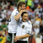 Germany finished third at the World Cup thanks in part to contributions from these two youngsters. Ozil, 22, part of Germany's U-21 European Championship-winning side in the summer of 2009, was one of the best playmakers in South Africa. Mueller, 20, who started the season in the Bayern Munich reserves and made his first Germany appearance only three months before the World Cup, was the tournament's Best Young Player and Golden Boot winner with five goals and three assists.