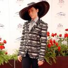 Hat's right, that's the flashy Olympic skater strutting his stuff at the Kentucky Derby.