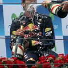 Formula One auto racing is obviously much more dignified than Bundesliga soccer when it comes to victory celebrations, as the winner of GP Spain demonstrates.