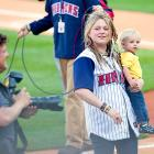 The  American Idol  songbird was honored by the Toledo Mud Hens during her gala homecoming at the disorientingly named Fifth Third Field on May 14.