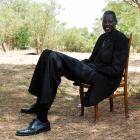 Bol, pictured here relaxing in the southern Sudanese capital of Juba, is currently hospitalized in Washington while recovering from a severe kidney condition that reportedly left him unable to eat for 11 days.