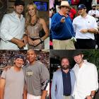 Perhaps no quarterback was busier on the social circuit than Romo, who was seen out and about with (clockwise from top left) girlfriend and former Miss Missouri Candice Crawford, ESPN broadcaster Chris Berman, 'The Hangover' actor Zach Galifianakis and Dallas Mavericks guard Caron Butler.