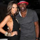While in town for the Super Bowl, T.O. hit up the party scene, posing for a photo with real estate professional and former contestant on The Apprentice Katrina Campins at The Eden Roc Resort.