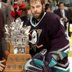 Goaltending is hot, sweaty work made even hotter and sweatier by a full facial carpet, but it didn't stop the Anaheim Ducks' netminder from winning the Conn Smythe Trophy as Playoff MVP in 2003.