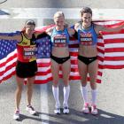 Athletes With the American Flag