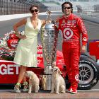 Best in Show: Two triumphant pooches pose with their spoils and their proud owners after winning the prestigious Indianapolis 500.