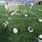 The very definition of  leaving it all on the field , which is exactly what the lads from Duke and Notre Dame did during their Men's Lacrosse Final Four match in Baltimore on May 31.