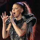 The Black Eyed Peas warbler made a game attempt to ingest her microphone whole while entertaining the good folks at the World Cup kick-off celebration concert in Soweto on June 10.