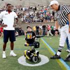 Honey, I shrunk Roger Goodell...or so it seems as an epic flag football game hosted by Patriots heart throb Tom Brady (not pictured) gets set for kickoff in Hyannis Port, Mass. on June 4.