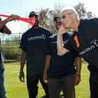 Apparently, Herr Beckenbauer is a tad hard of hearing these days, but that's no problem for Mr. Moses, who made himself loud and clear with a vuvuzela in South Africa, where we hear the World Cup tournament is being contested.