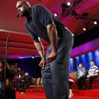 """A tense moment indeed at the Scripps National Spelling Bee when the roundball titan had to pause a few moments before successfully completing his full first name. """"Can never remember how many darn L's there are,"""" he muttered, according to our sources, which are not always the most reliable things on the planet."""