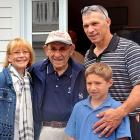 The Yogi Berra Museum is so crowded, no one goes there anymore, as you can see. That's the beloved Hall of Famer's wife, Carmen, on the left, and Yankee skipper Girardi's son Dante (who we hear wrote a little classic called  Inferno  many years ago) on the right.