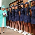 The Wimbledon ball boys and girls got a royal going-over from the Grand Dame of Buckingham Palace.