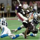 On Sept. 23, 2001, Michael Vick made his home debut for the Atlanta Falcons against the Carolina Panthers. The No. 1 pick in the 2001 NFL Draft, Vick made an immediate impression with the fans in Atlanta, scoring his first NFL touchdown on a 2-yard run in the fourth quarter and helping the Falcons beat the Panthers.