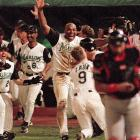 Tied at 2 in the 11th inning, the Series ended when Marlins shortstop Edgar Renteria hit an RBI single to drive in Crag Counsell for the franchise's first World Series championship.
