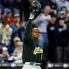 """Returning to the park in which he hit 261 home runs as a White Sox, Thomas picked right up where he left off, smashing two homers in the A's 5-4 loss to Chicago. The crowd gave Thomas a standing ovation before his first at-bat. After the game, Thomas said his return was """"bittersweet."""""""