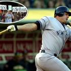 """After spurning the A's to sign a lucrative deal with the Yankees, Giambi and his new team returned to Oakland quickly in the 2002 season. As fans booed him loudly throughout the game and held up signs with phrases like """"Benedict Giambi,"""" he had two hits and a run scored in New York's 2-1 victory."""