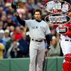 """Perhaps no other player better symbolized the """"bunch of idiots"""" that led Boston to its first world championship in 86 years than Damon. After joining the Yankees in the 2005 offseason, Damon came back to Fenway rid of the look that had earned him the endearing title of a """"caveman"""" during his stay in Boston. Though the booing seemed to overpower the cheers, Damon heard enough support mixed in to tip his cap to the crowd in his first at-bat."""