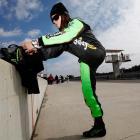 Patrick prepares for a test session at Barber Motorsports Park.