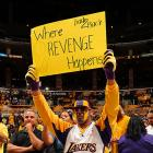 The win puts the Lakers a step closer to avenging their 2008 Finals loss to the Celtics. It also puts them closer to making that fan very happy.