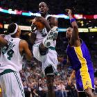 Garnett dominated down low, something even Kobe couldn't deny.
