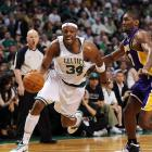 Thanks to Paul Pierce and his team's tenacious D, the Celtics downed the Lakers 92-86 in a crucial Game 5 win in Boston on Sunday. With the series headed back to Los Angeles, the C's are only one win away from their second title in three years. Here are some of SI's best shots from Sunday's game.