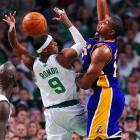 In addition to its stellar defense, Boston's offense was powered by Pierce and point guard Rajon Rondo, who came up with some key buckets (18 points on 9-of-12 shooting) and aggressive play down low (five rebounds). Not bad for a guy who's only 6-foot-1.